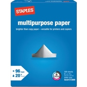 "Staples® Multipurpose Paper, 8 1/2"" x 11"", 500/Ream (513099-WH)"