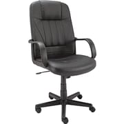Alera Sparis Leather Executive Office Chair, Fixed Arms, Black (ALESP41LS10B)