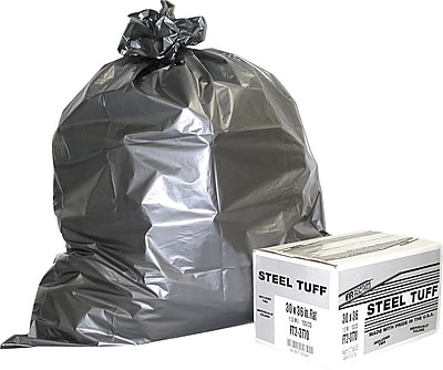 Fortune Plastics Steel Tuff Extra-Heavy Duty Can Liner, 56 Gallon Bags, 50/Carton