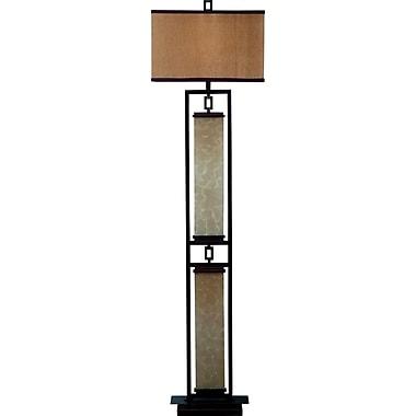 Kenroy Plateau Incandescent Floor Lamp, Oil Rubbed Bronze