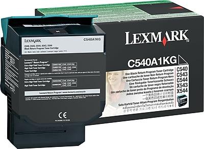 Lexmark Black Toner Cartridge (C540A1KG), Return Program