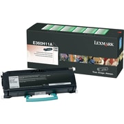 Lexmark E360H11A Black Return Program Toner Cartridge, High Yield
