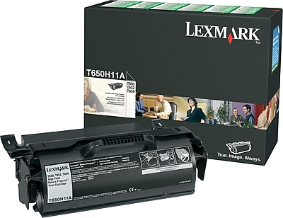 Lexmark T650H11A Black Return Program Toner Cartridge, High Yield