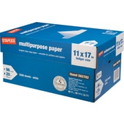 "Staples Multipurpose Paper, 11"" x 17"", Case"