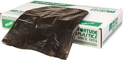 Fortune Plastics Low Density Polyethylene Super Hexene Can Liner, 15 Gallon Bags, 500/Carton