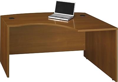 Bush Business Furniture Westfield 60W x 43D Right Handed L Bow Desk, Warm Oak (WC67522)