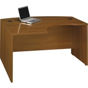 Bush Business Westfield 60W x 43D Left Hand L-Bow Desk Shell, Cafe Oak