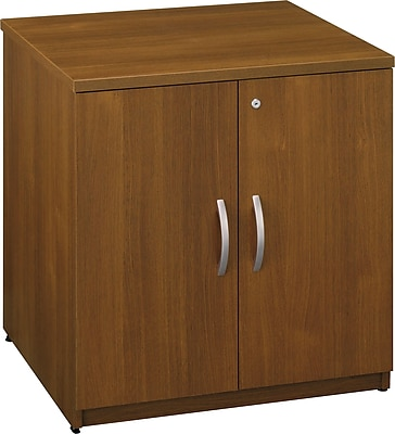 Bush Business Westfield 30W Storage Cabinet, Cafe Oak, Installed