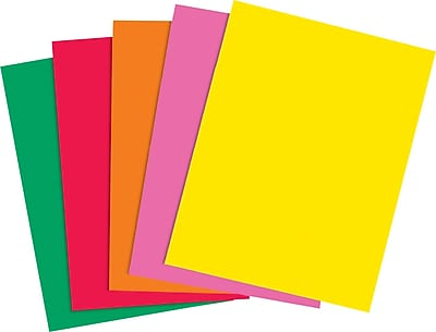 Staples Brights 24 lb. Colored Paper, Assorted Colors