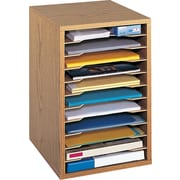 Safco Vertical Desktop Sorter, Medium Oak (9419MO)