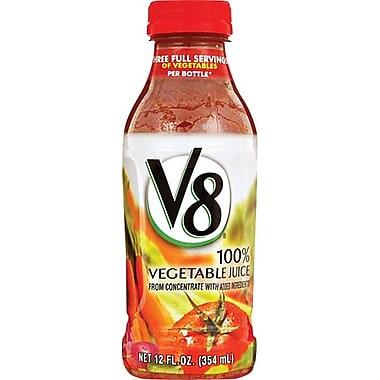 V8® 100% Vegetable Juice, 12 oz. Bottles, 12/Pack