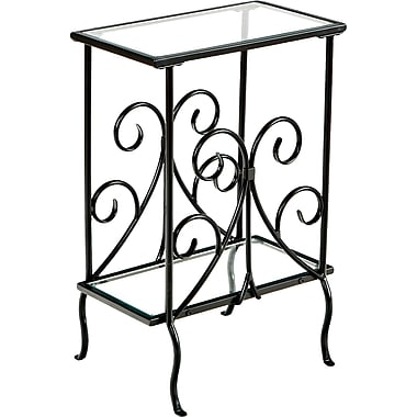 SEI Decorative Metal Magazine Table