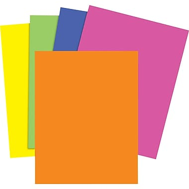 Staples Brights 24 Lb Colored Paper Neon Assorted 500 Ream