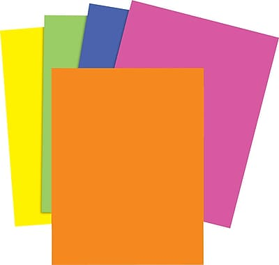 Staples Brights 24 lb. Colored Paper, Neon Assorted, 500/Ream