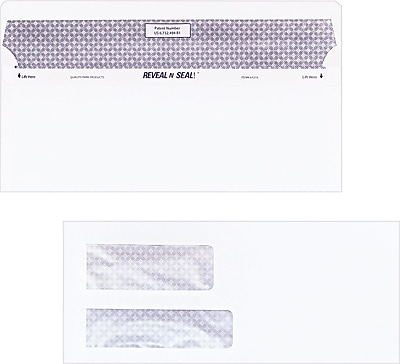 Quality Park® Reveal-N-Seal™ Double Window Envelopes, #9, 500/Box