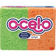 "3M™ O-Cel-O™ Commercial Cellulose Sponges, Assorted, 4.7"" x 3"" x .6"", 4/Pk"