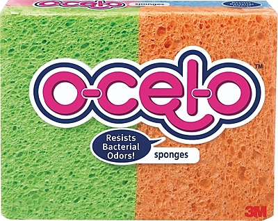 3M™ O-Cel-O™ Commercial Cellulose Sponges, Assorted, 4.7