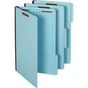 Staples® Pressboard Fastener Folders, Legal Size, Light Blue, 25/Box