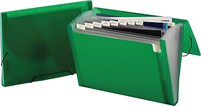 Staples Poly Colors Expanding Files, Letter, Green, Each