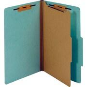 Staples® Colored Pressboard Classification Folders, 2/5 Cut Top Tab, 1 Partition, Legal, 20/Box (PU44LBLSB)
