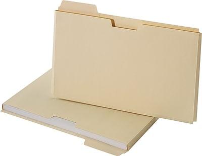 Staples® File Folder Jackets, Legal, Manila, 150 Sheet Capacity , 10/Pack