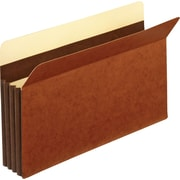 "Staples® 3-1/2"" Heavy Duty Expanding File Drawer Pockets, Letter Size, Brown, 10/Box (FC1524ESB)"