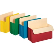 "Staples Colored Expanding File Pockets, 5 1/4"" Expansion, Letter, Assorted, 5/Pack"