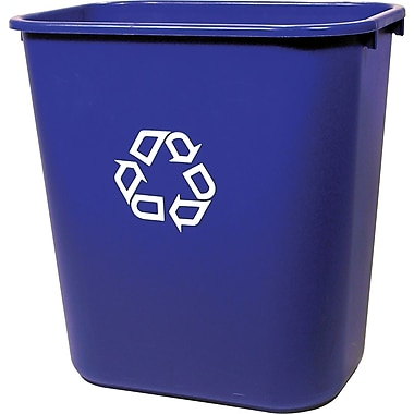 Brighton Professional Recycling Container, Blue, 7 gal. (22174/19207)
