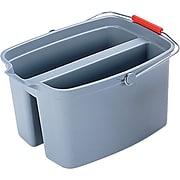"""Rubbermaid® Brute® Plastic Utility Double Pail, Gray, 19 Quart, 10""""H x 18""""W x 14 1/2""""D"""