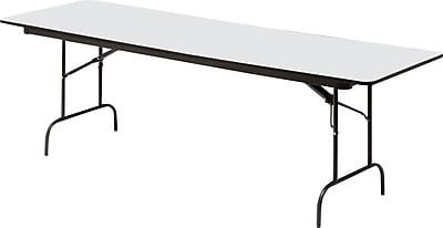 Iceberg 5' Heavy-Duty Melamine Folding Banquet Table, Gray