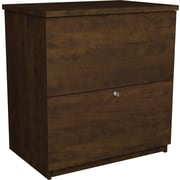 Bestar® Executive Collection 2-Drawer Lateral File Cabinet, Chocolate, Letter/Legal (65635-2169)