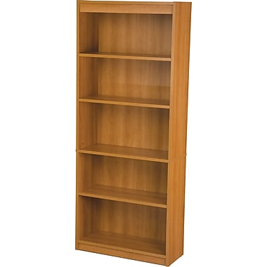 Bestar Commercial Bookcase, 5-Shelf, Cappuccino Cherry