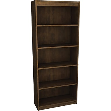 Bestar Commercial Bookcase, 5-Shelf, Chocolate