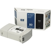 HP 80 Black Ink Cartridge (C4871A), 350ml
