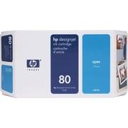 HP 80 Cyan Ink Cartridge (C4872A), 175ml