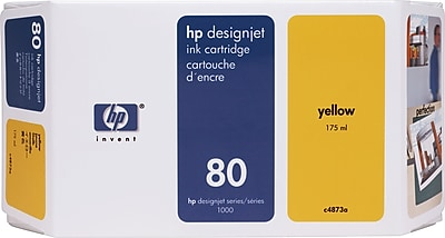 HP 80 Yellow Ink Cartridge (C4873A), 175ml