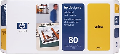 HP 80 Yellow Printhead and Cleaner (C4823A)