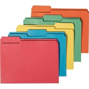 Staples® 100% Recycled Top Tab Colored File Folders, Legal, 3 Tab, 50/Box