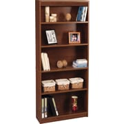 Bestar Hampton™ 5-Shelf Bookcase, Tuscany Brown & Black
