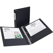 "1-1/2"" Avery® Economy Binder with Label Holder and Round Rings, Black"