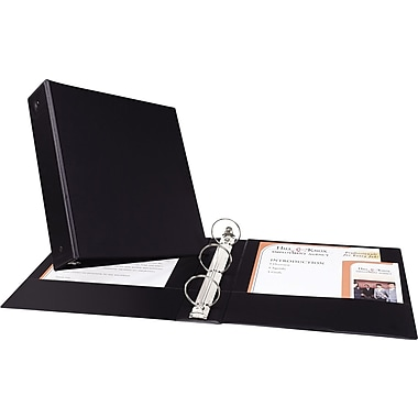 Avery Economy 2-Inch Round 3-Ring Nonview Binder, Black (3501)