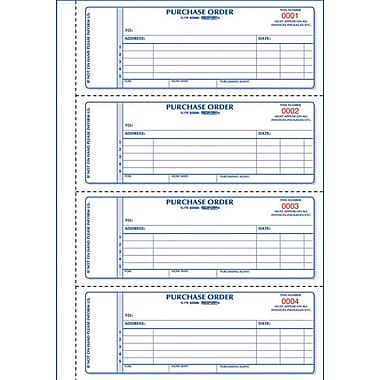Rediform® Carbonless Purchase Orders, 2-3/4
