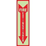 """Headline """"Fire Extinguisher"""" Glow In The Dark Sign, 4""""x13"""", 1 each"""