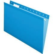 Pendaflex® Reinforced Hanging File Folders, 5 Tab Positions, Legal Size, Blue, 25/Box (4153 1/5 BLU)