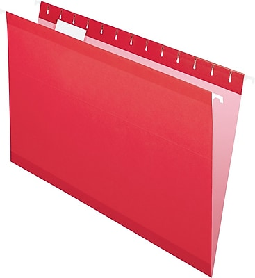 Pendaflex® Recycled Colored Hanging File Folders, Legal Size, Red