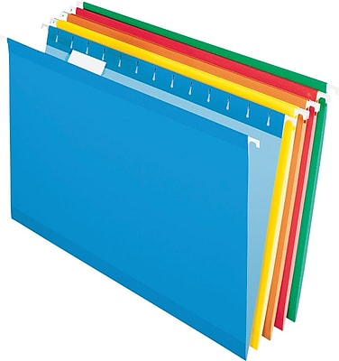 Pendaflex® Recycled Colored Hanging File Folders, Legal Size, Assorted Bright Colors