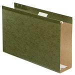 Pendaflex® Extra-Capacity Hanging Folder with Box Bottom, 3 Expansion, Legal Size, 8-1/2 x 14, Green