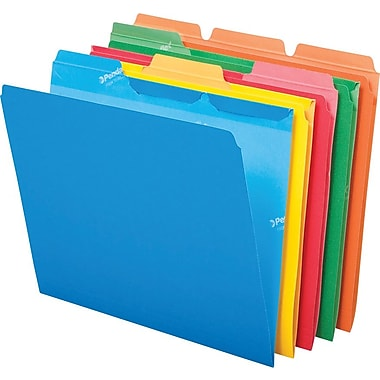 Pendaflex Ready-Tab File Folders, Letter Size, 3 Tab, Assorted Colors, 50/Box (42338)