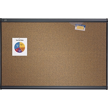 Quartet® Prestige® Coloured Cork Bulletin Board, Graphite Frame, 36