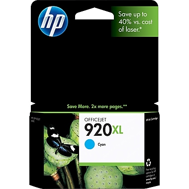 HP 920XL Cyan Ink Cartridge (CD972AN), High Yield